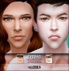 Eyebag at Tifa Sims via Sims 4 Updates The Sims 4 Skin, Sims 4 Blog, Sims 4 Characters, Eye Wrinkle, Sims 4 Update, Sims 4 Cc Finds, Puffy Eyes, The Sims4, Makeup For Beginners