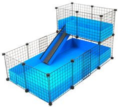Just bought this  from Guinea Pig Cages. We did royal blue and light blue:)  Check it out!