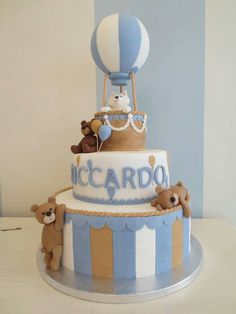 Teddy Hot Air Balloon Cake