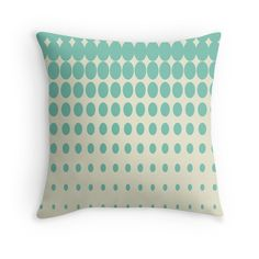 'Fading Dots Teal Pattern' Throw Pillow by Teal Throw Pillows, Floor Pillows, Framed Prints, Canvas Prints, Art Prints, Art Boards, Duvet Covers, Dots, Room Decor