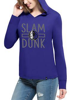 2c4cd6099286  47 Dallas Mavericks Womens Blue Crosstown Hooded Sweatshirt