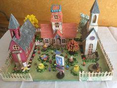 Tim Holtz village dwelling: Easter village