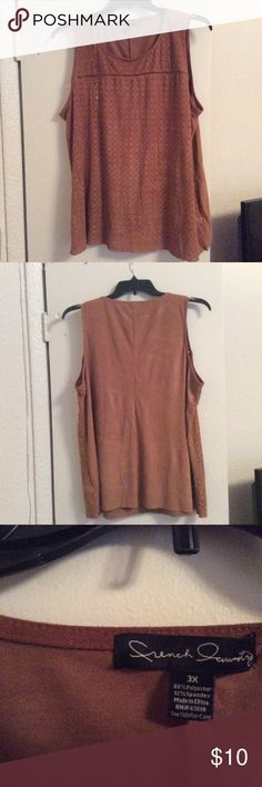 Suede look sleeveless top Soft fabric, feels like suede. Sleeveless tank. Cut with jeans . Dress it up or down. Tops Tank Tops