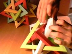 How-to fold a Five Intersecting Tetrahedra Dodecahedron - All
