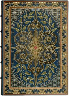(Sangorski, Alberto, calligrapher and illuminator) Author: Rossetti, Dante Gabriel Illuminated manuscript on vellum.  Finely bound by Riviere annd Sons in full blue morocco with onlay brown morocco-edged borders with elaborate gilt decorations surrounding large panel containing elaborate all-over botanic design with gilt-outlined onlays in green brown and red morocco, gilt stippling in-fill,