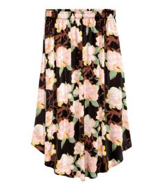 Patterned Skirt | Black floral | Ladies | H&M US