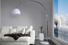 Bighome.cz  -  Stojací lampa BIG BOW IV – bílá Big Bows, Oversized Mirror, Sofa, Lighting, Arc, Furniture, Design, Support, Dimensions