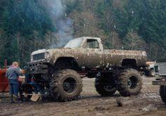 Monster Chevy lifted Silverado Mudder truck