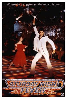 Saturday Night Fever...I had a few parties at my home as a young girl, and my friends and I would dance the hustle to the music from the soundtrack. I laugh at line dancers, nowadays...funny,huh?