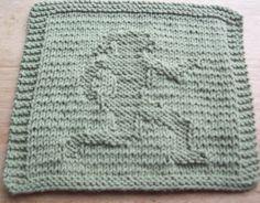 DigKnitty Designs: Girl Running Knit Dishcloth Pattern