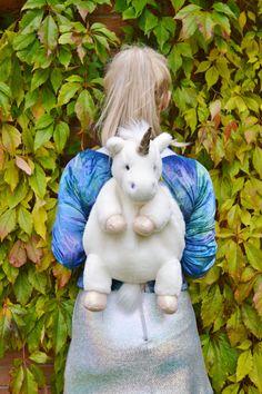 Vintage Retro 90s Plush Club Kid Unicorn Lady Amalthea Magic Animal Kids Backpack Rucksack Bag