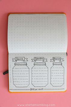 Saving Spending and Sharing Bullet Journal Spread. Such a great bullet journal tracker for saving money! Awesome tips in the article to change the way you live!