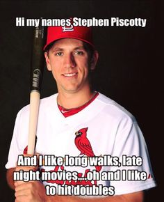 Stephen Piscotty Meme ♠ re-pinned by http://www.wfpblogs.com/category/toms-blog/
