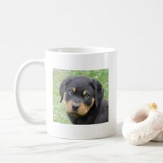 #Doggy McDogface Rottweiler Puppy Coffee Mug - #rottweiler #puppy #rottweilers #dog #dogs #pet #pets #cute