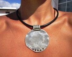 asymmetrical necklace Boho jewelry bohemian jewelry by kekugi - new season bijouterie Bohemian Jewelry, Bohemian Necklace, Bohemian Gypsy, Ethnic Jewelry, Bohemian Clothing, Leather Necklace, Leather Jewelry, Jewelery, Jewelry Necklaces