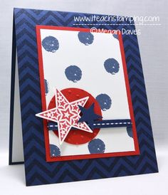 Red, White and Blue Greeting Card (Memorial Day) - Two Peas in a Bucket