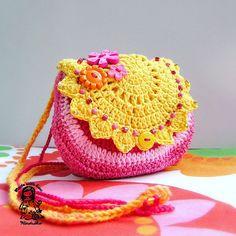Handmade crochet purse - Summertime coll. - Sunny. $30.00, via Etsy.