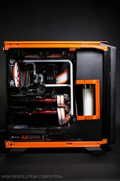 #casemod with an Orange Crush look. #rigs