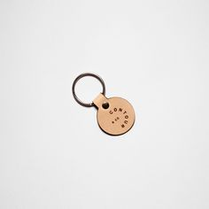 """Vegetable Tan Leather Key Fob -Fabricated from the off cuts, in order to minimize waste, this little key fob features the contour & co logo, attached to a 1 1/8"""" Stainless Steel key ring.  #leather #keyfob #keyring #fashion #vegetabletan #keychain"""