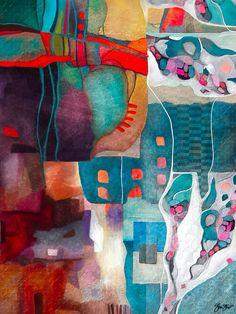 Abstract mixed media art by Gina Startup #abstractart