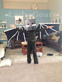 Lady Goats: Updated DIY Ender Dragon Costume - Articulating wings