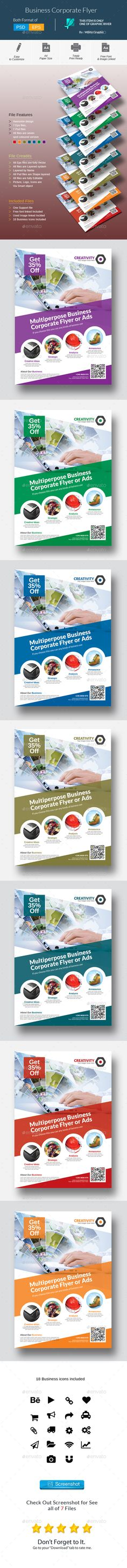 Corporate Flyer Template #design Download: http://graphicriver.net/item/corporate-flyer/12850669?ref=ksioks