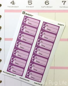 Free Printable Doctor Appointment Stickers for Avery Labels