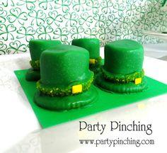 Leprechaun hats at a St. Patrick's Day Party #stpatricksday #leprechaunhats