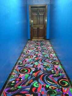 Bowling Alley Bowling Center Carpet Black Light