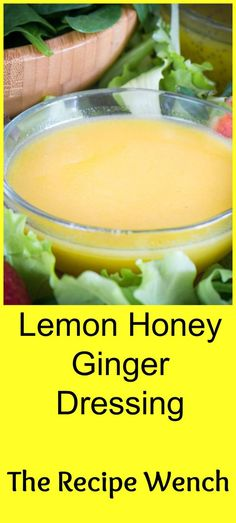 Lemon honey ginger dressing will wake up those tastebuds. Takes only 5 minutes and you have a fresh, sweet-tangy dressing to liven up your salad!: