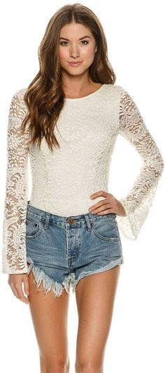 Billabong Eternal Bliss Crochet Lace Bodysuit