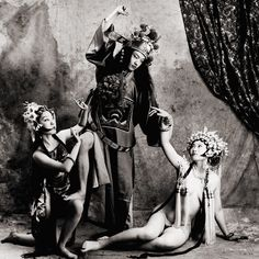 "Beating The Princess from ""Peking Opera"" series, 1997 by Liu Zheng"
