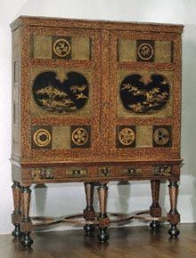 cabinet, inlayed with panels of Japanese lacquer