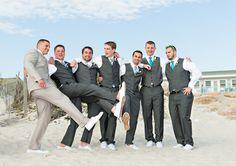 Vibrant Blue Beachside Wedding