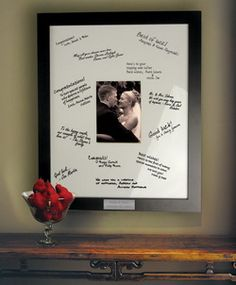 Love the idea of having a guestbook you can display :)