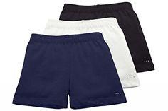 Sparkle Farms Girls Under School Uniform Shorts, 3-pack, Sizes 3-12 *** For more information, visit…