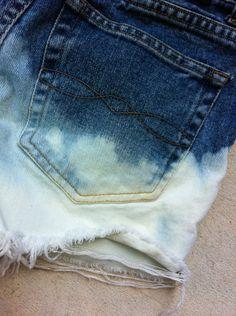 Dip Dye Vintage High Waisted Shorts. $19.00, via Etsy.