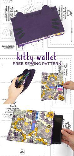 Free kitty purse PDF pattern download!
