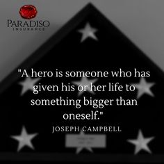#ParadisoInsurance #Hero Commercial Insurance, Insurance Agency, Joseph Campbell, Something Big, Quotes To Live By, Coding, Hero, Life, Quote Life