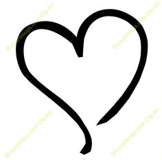 HEART CLIPART | ... Heart Tilted To The Left Keywords One Heart Single Heart  Sketch Heart