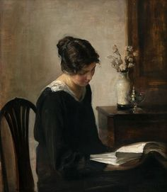 Carl Holsoe Woman in Black Late 19th - early 20th century