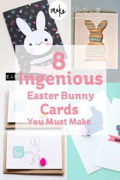 Ingenious Easter Bunny Cards You Must Make #Easter #CardMaking #DIY