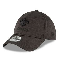 Men s New Orleans Saints New Era Heathered Black Heated Up 39THIRTY Flex Hat c0b4a13fad87