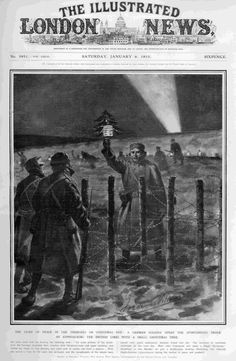 My Letter on Remembrance Day and the Christmas Truce of 1914 Christmas Truce, Christmas Carol, Xmas, Newspaper Headlines, History Of England, Small Christmas Trees, Remembrance Day, Vintage Magazines, World War I