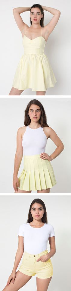 Soft Yellow for #Summer #AmericanApparel