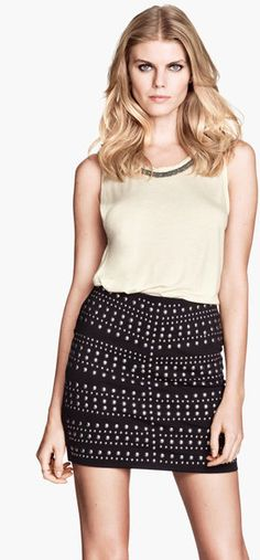 Black Skirt with Studs.