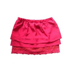 Pre-owned Scarlett Roos Skirts ($42) ❤ liked on Polyvore featuring skirts, pocket skirt, pink lace skirt, pink skirt, knee length lace skirt and lace skirt