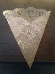 25 Handmade Doily Cones Fill with Confetti by DesignYourFavors  --- 25 HANDMADE Cones - for only $12.95!!!