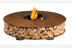 This outdoor fireplace features a shelf to store extra logs and a base that is wide enough to perch on and warm up. Zero Outdoor Fireplace by Ak47 ($6,100 at Space Lighting)