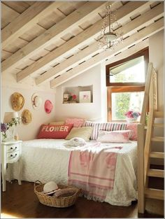 Dormitorio pequeño romántico